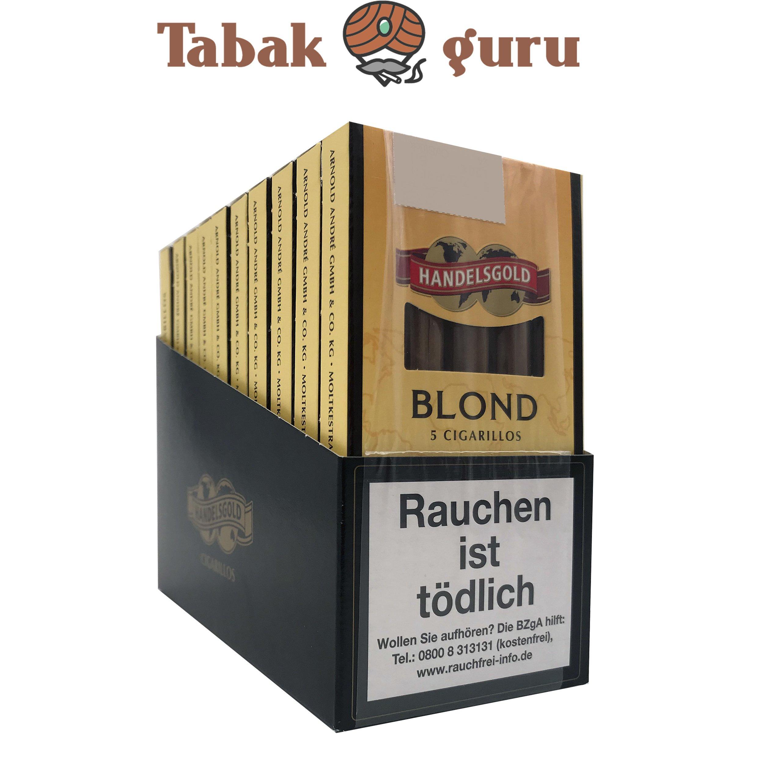 10x Handelsgold No. 211 Blond Filterzigarillos à 5 Stück