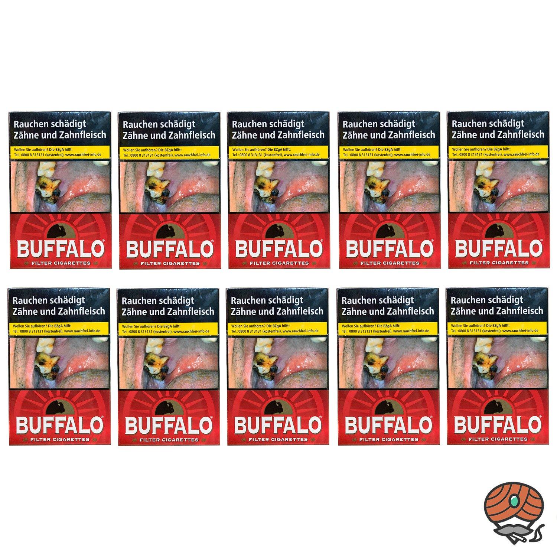 1 Stange Buffalo Red Filterzigaretten OP 10x20 Stück