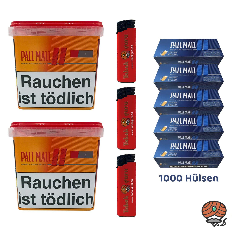 2x Pall Mall Giga Box 260g Tabak/Volumentabak, 1.000 Pall Mall Blue Hülsen