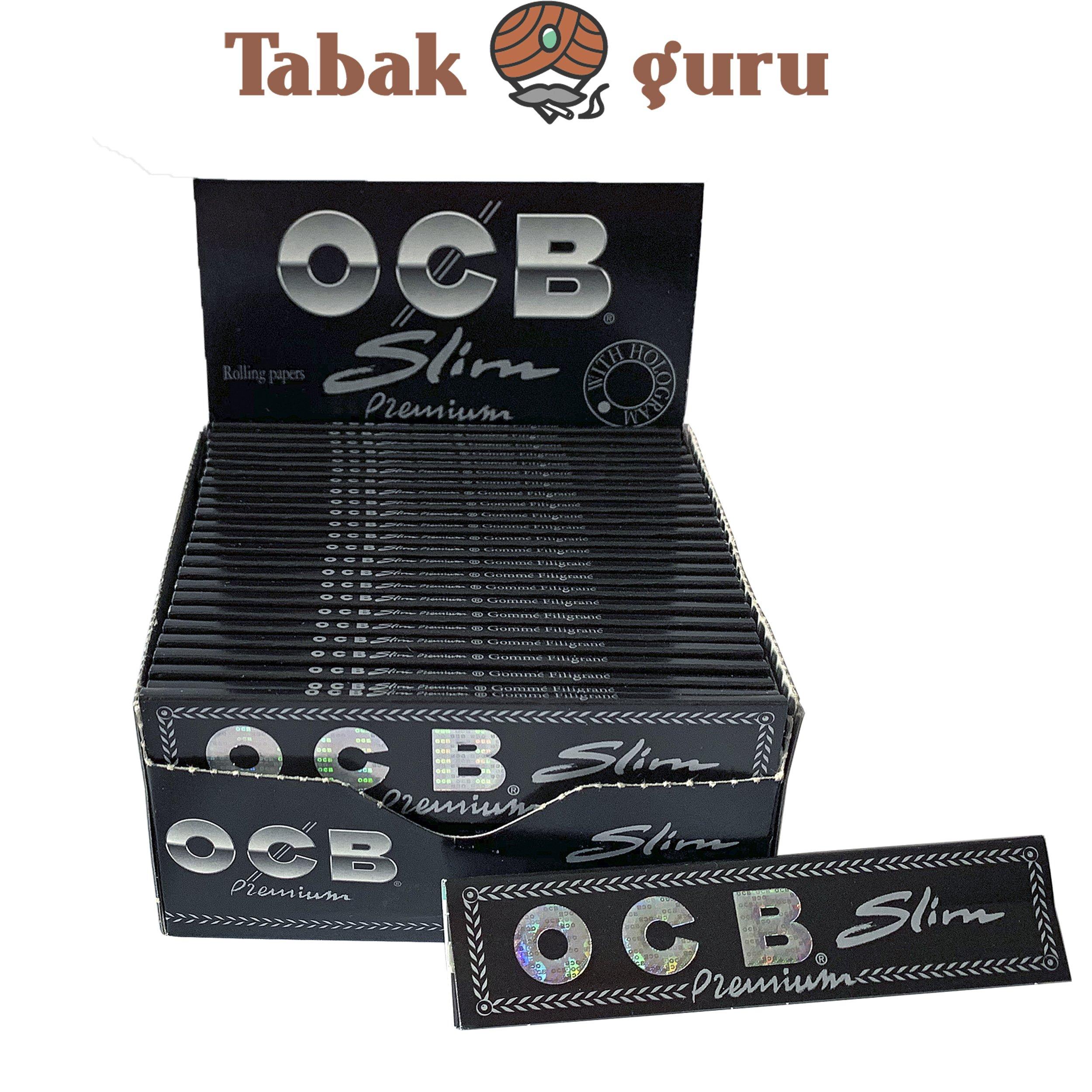 OCB Schwarz Premium Long Slim Papers /Drehpapier