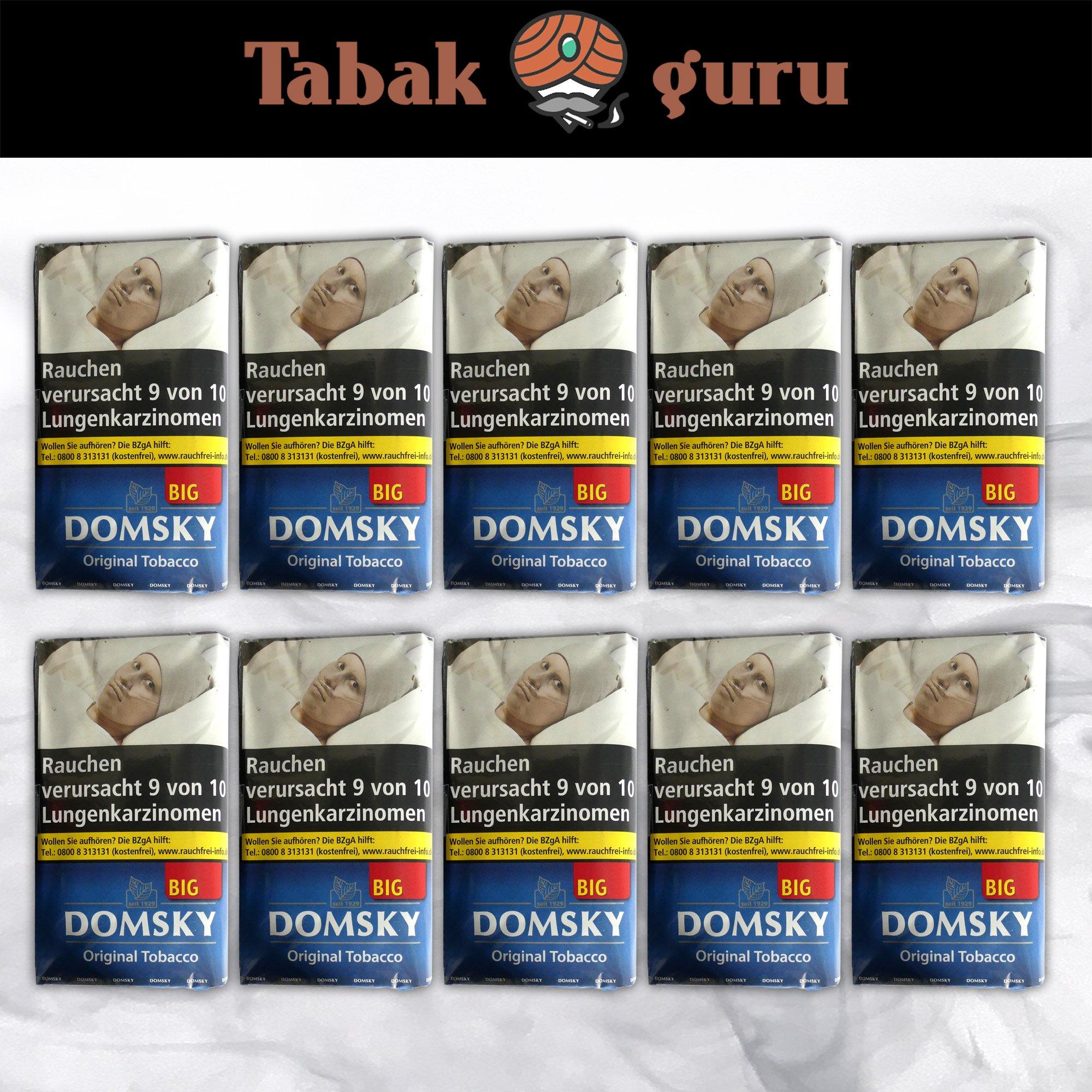 10 x DOMSKY Original Tobacco Drehtabak BIG 50 g