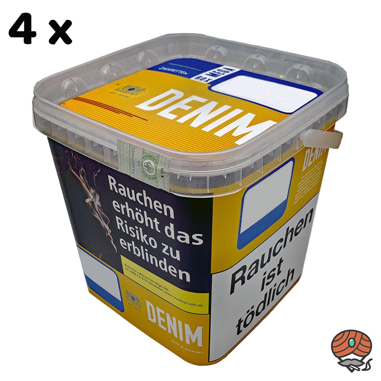 4 x Denim Mega Box Volumentabak à 290g Eimer