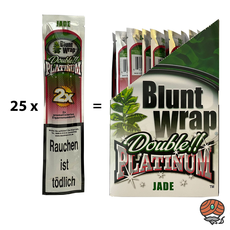 25 x Blunt Wrap JADE (Wassermelone) - Paperersatz aus echten Tabakblättern