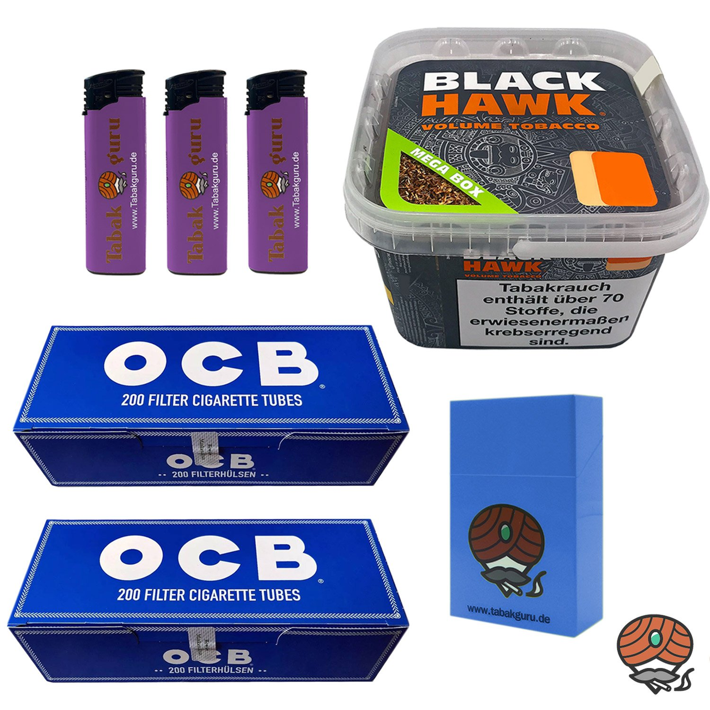 Black Hawk Volumentabak 230 g Mega Box + 2 x OCB Filterhülsen + weiteres