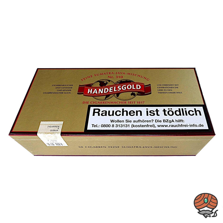 Handelsgold Zigarren No. 310, 50 Stück, Feine Sumatra-Java-Mischung