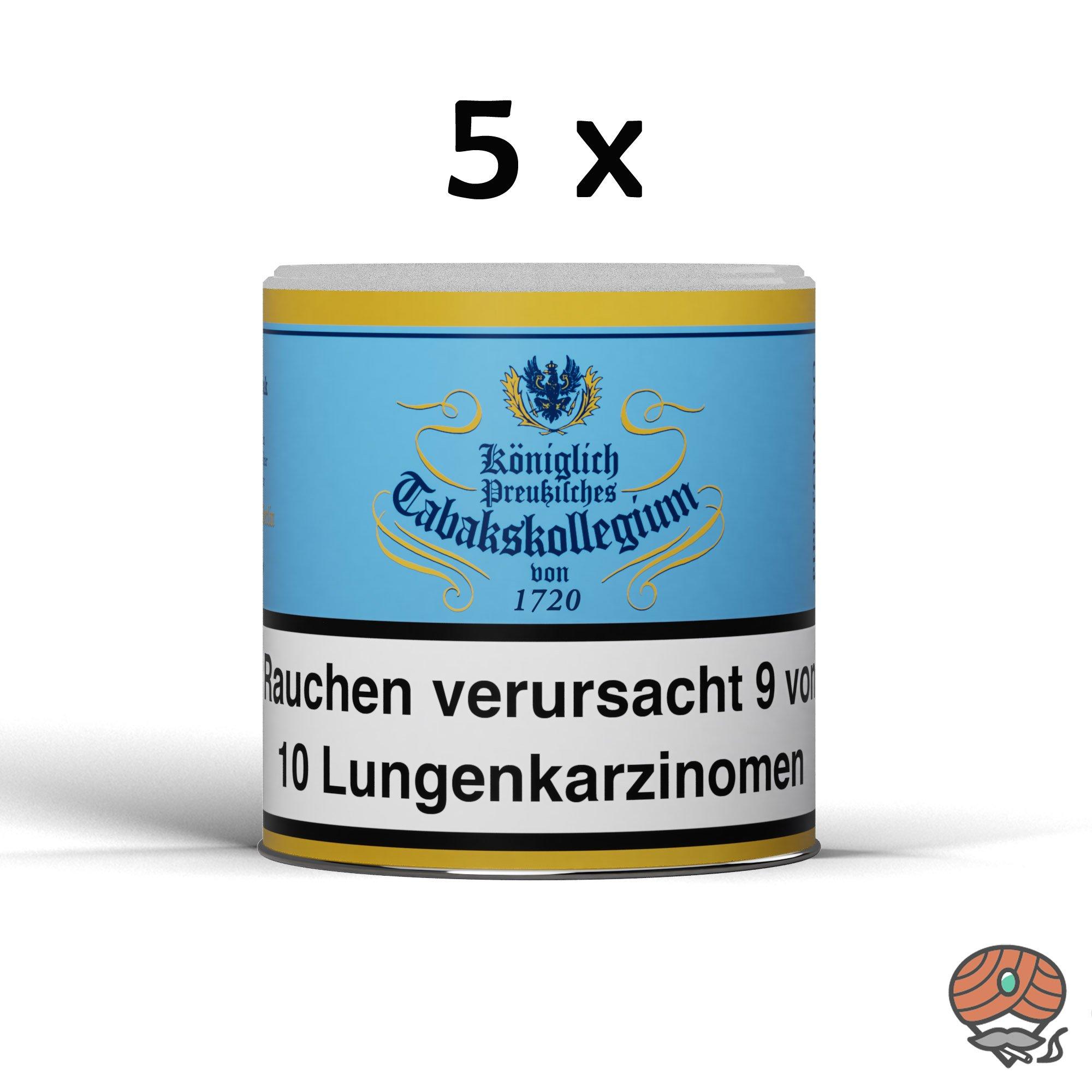 5x Königlich Preußisches Tabakskollegium (KPT) Blau 1720 Pfeifentabak 100g
