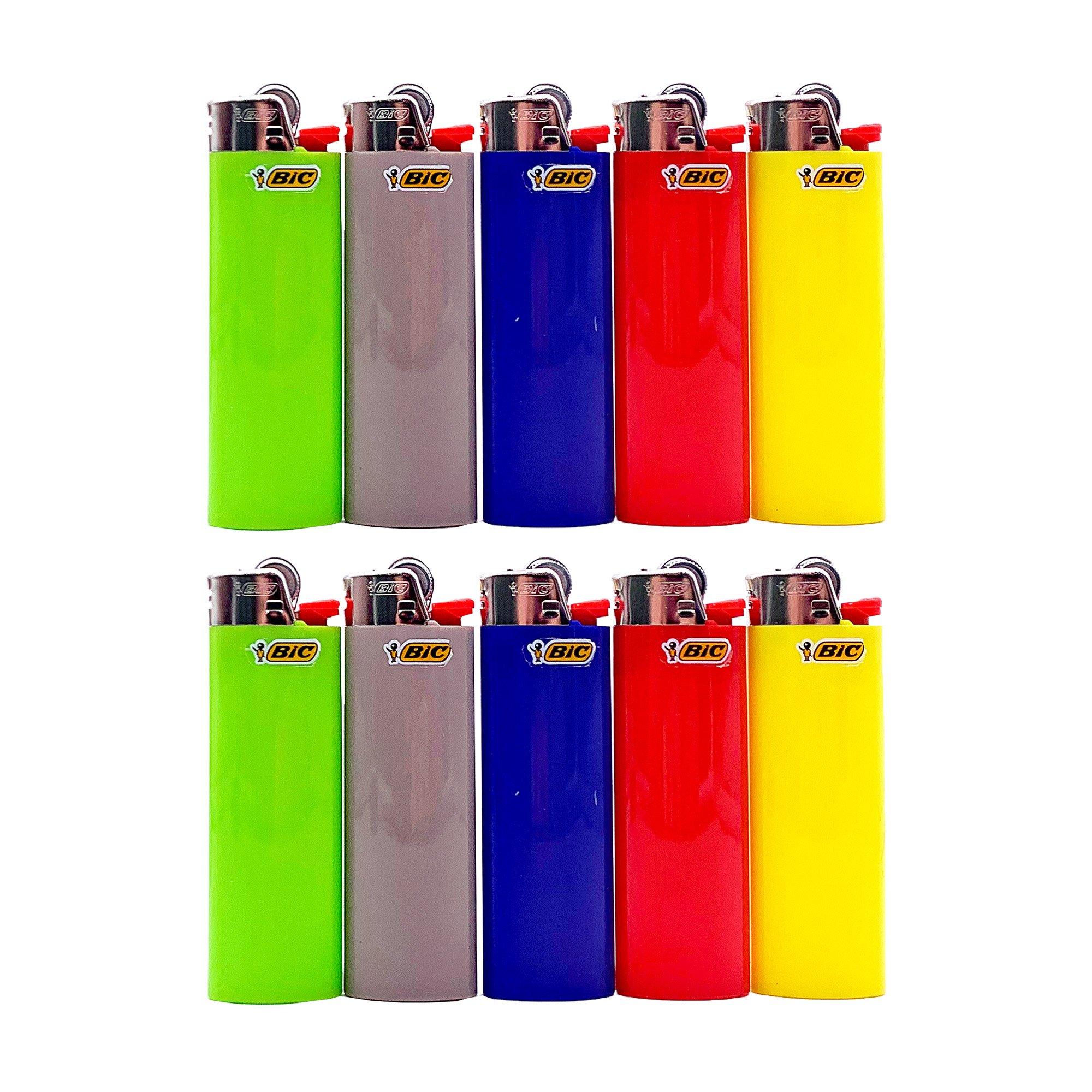 10 BIC Maxi Reibrad Feuerzeug verschiedene Farben nicht wählbar