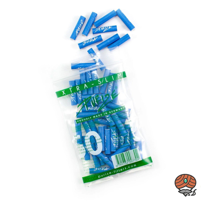 Purize Aktivkohlefilter XTRA SLIM blau, 50 Stück