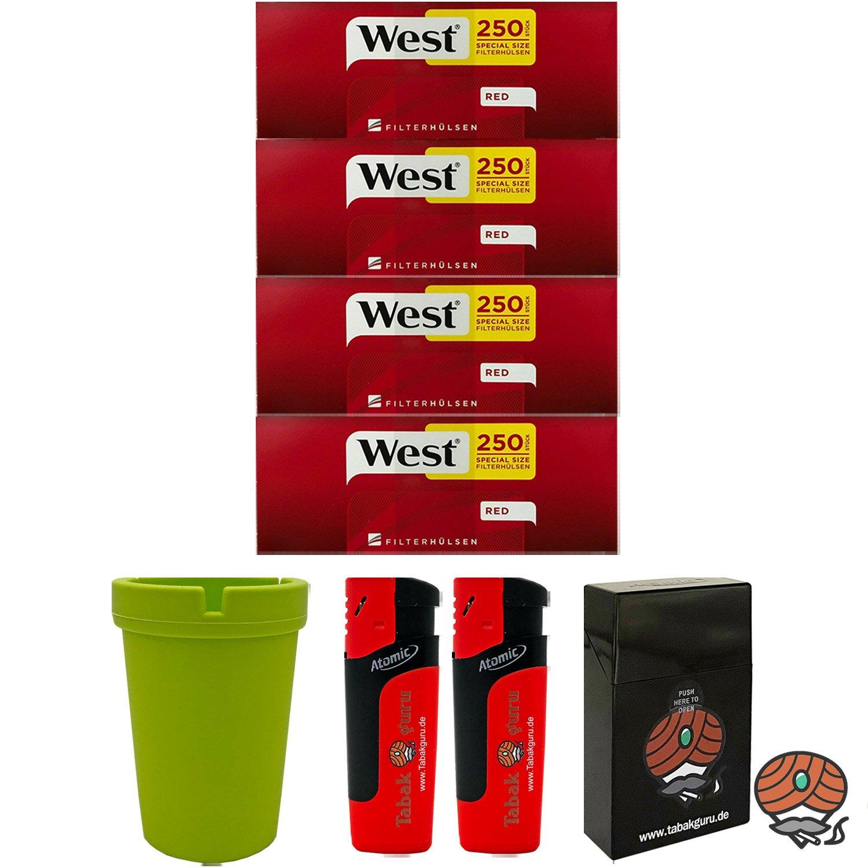4 Pack West Extra Filterhülsen + Autoaschenbecher + Zubehörartikel