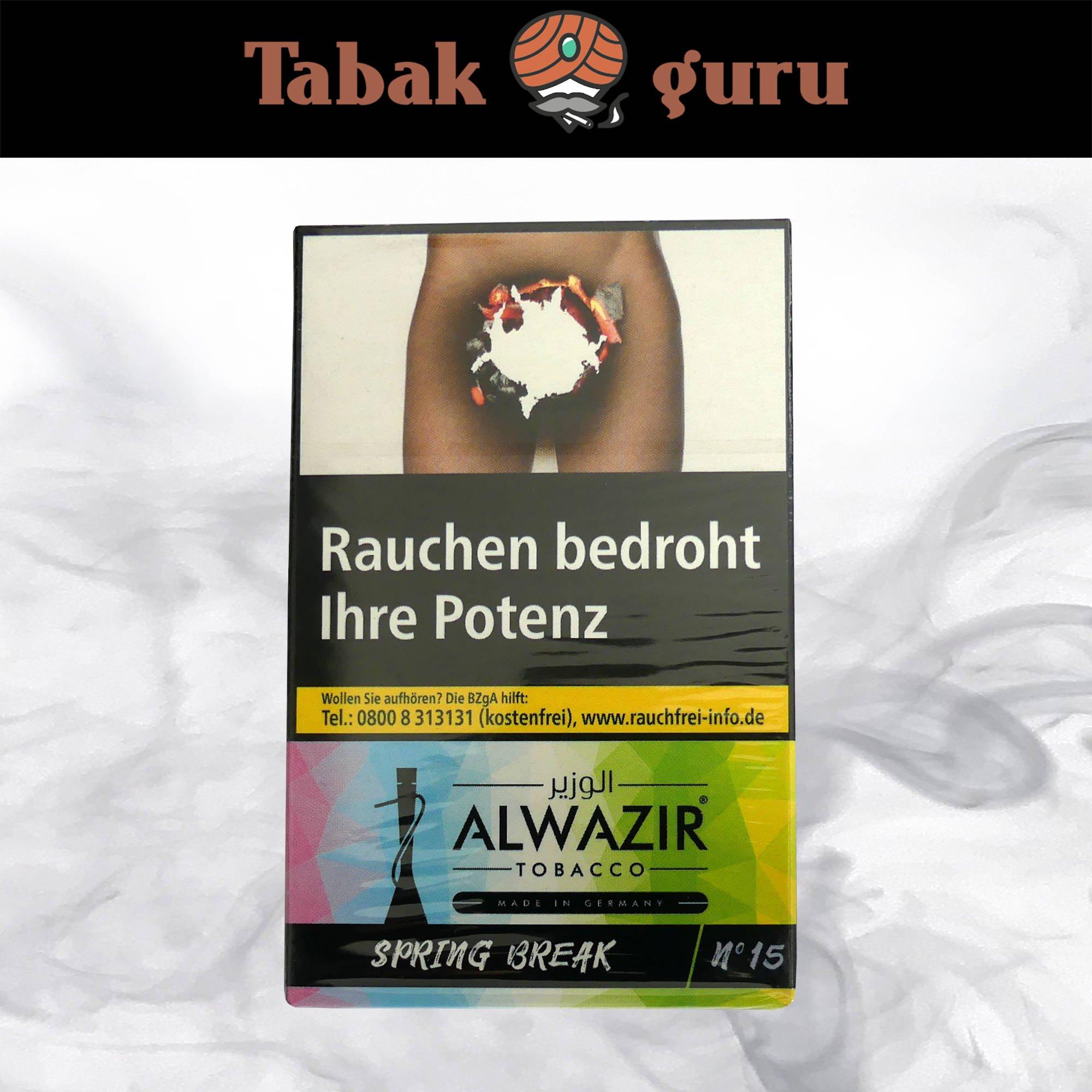 Alwazir Shisha Tabak - No. 15 - SPRING BREAK 50g