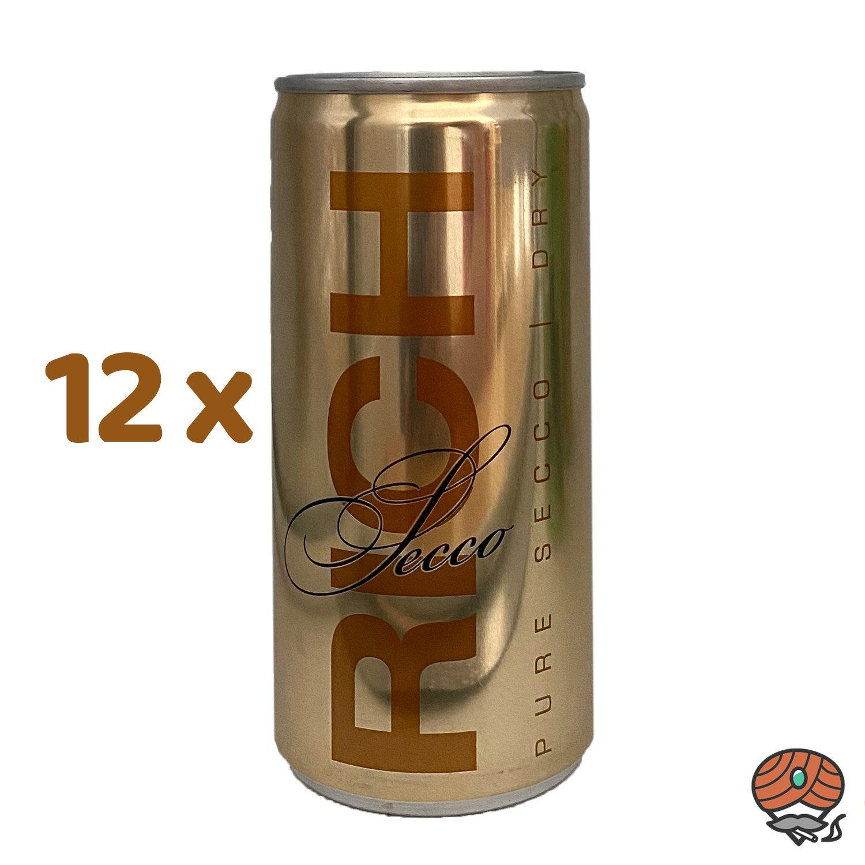 12 x Rich Secco, Dry, 200 ml Dose, alc. 10,5 % Vol.
