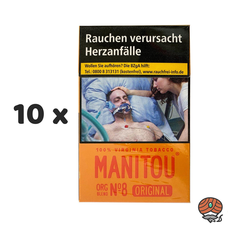 10 x Manitou Organic Blend Original No. 8 Zigaretten à 20 Stück