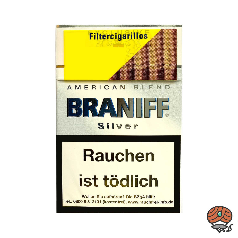 Braniff Silver Filterzigarillos á 17 Stück