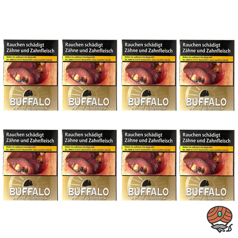 1 Stange Buffalo Gold Filterzigaretten BP 8x23 Stück