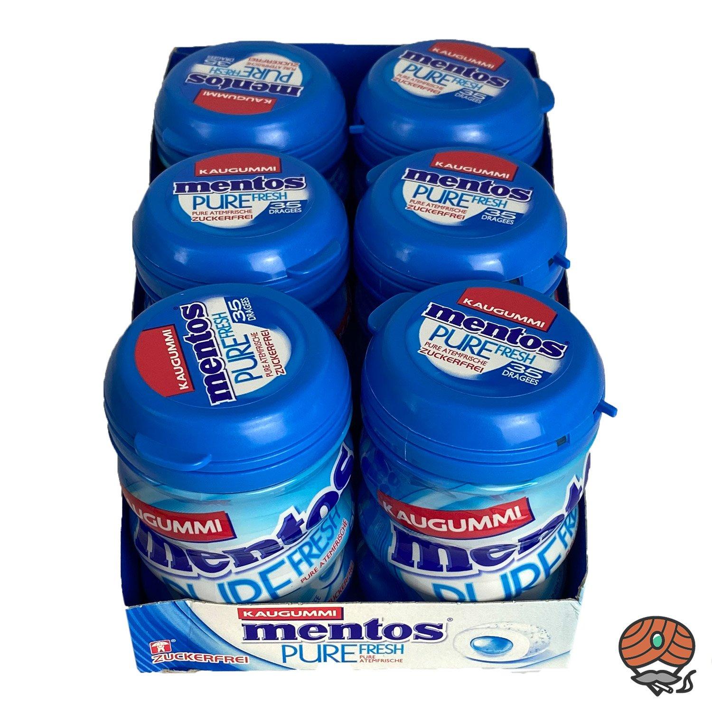 6 x Mentos Pure Fresh Kaugummi, Zuckerfrei, Dose à 35 Dragees